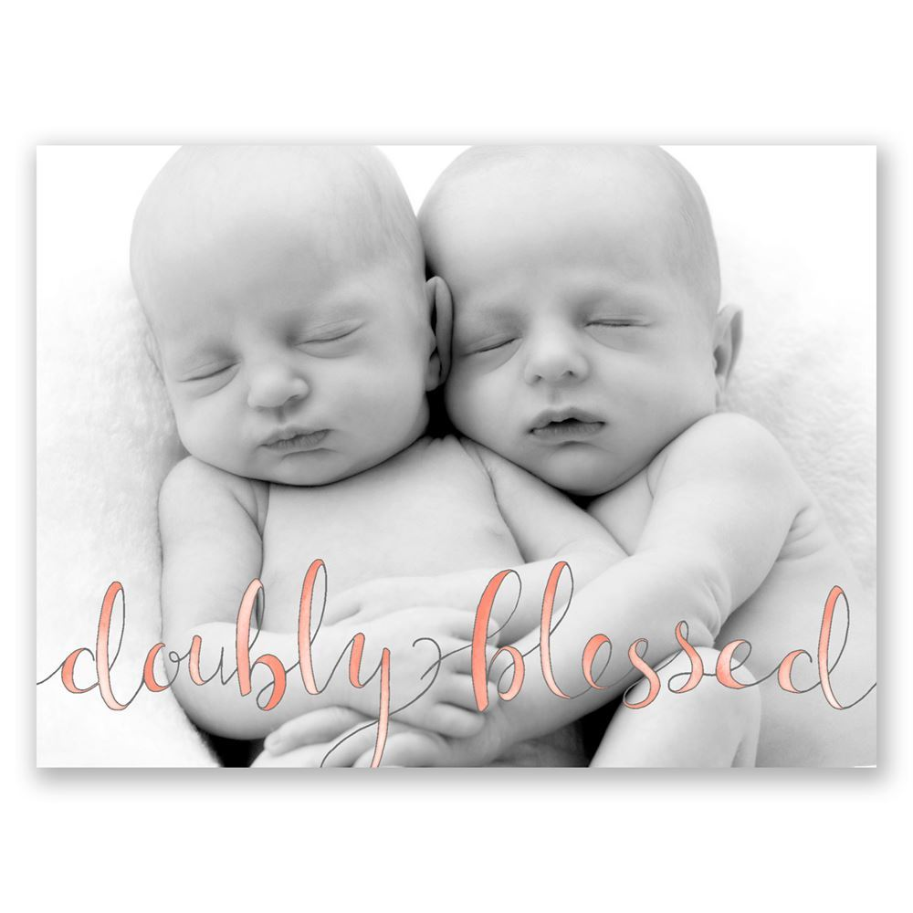 Doubly Blessed Petite Twins Birth Announcement