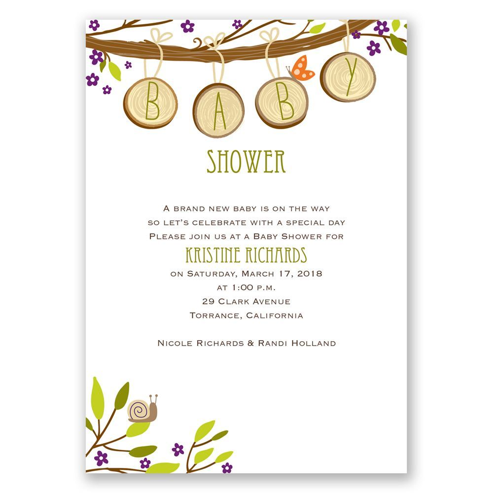 Charming By Nature Baby Shower Invitation Invitations By