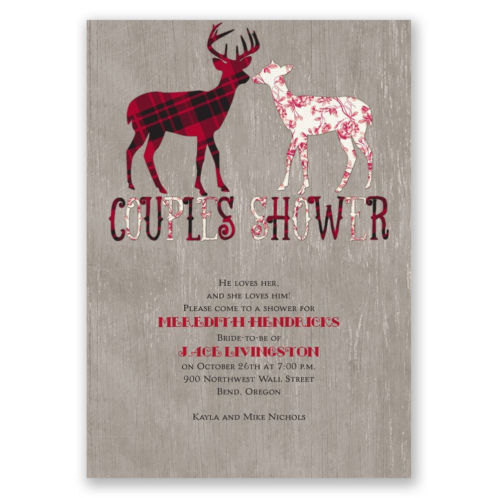 Buck and Doe Wedding Shower Invitation  Invitations By Dawn
