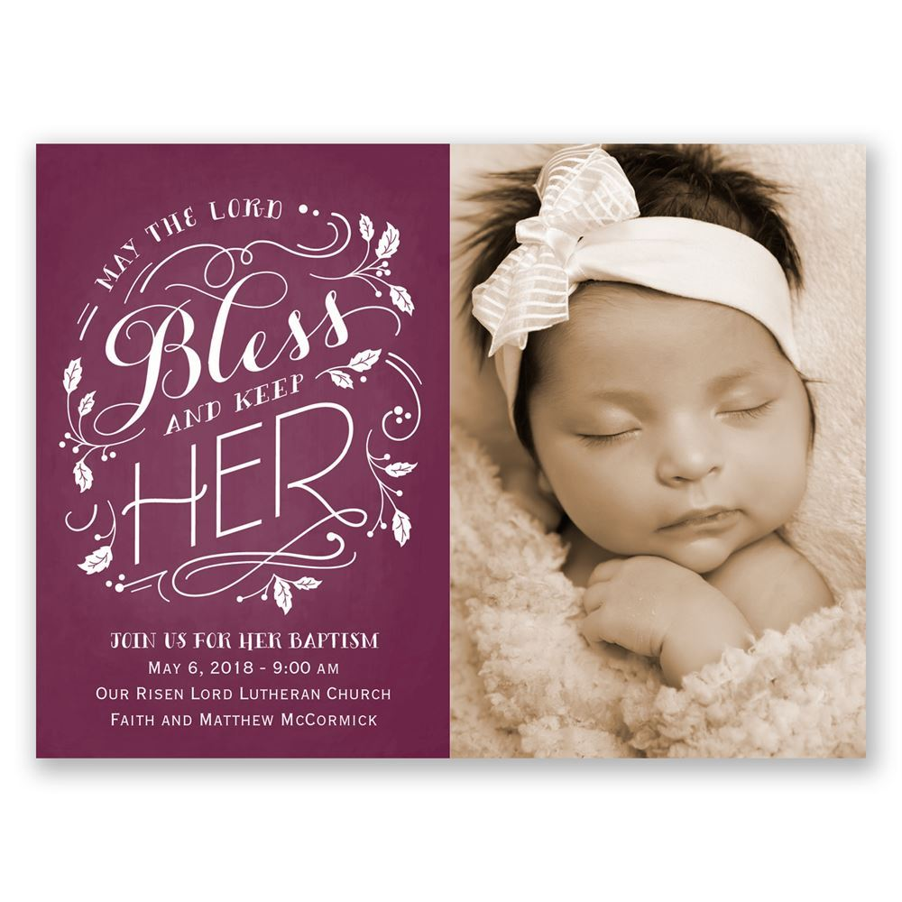 baby girl baptism invitations