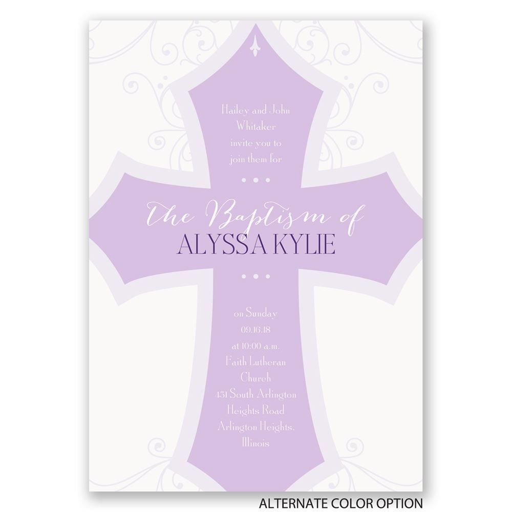 Baptism Invitations Response Cards