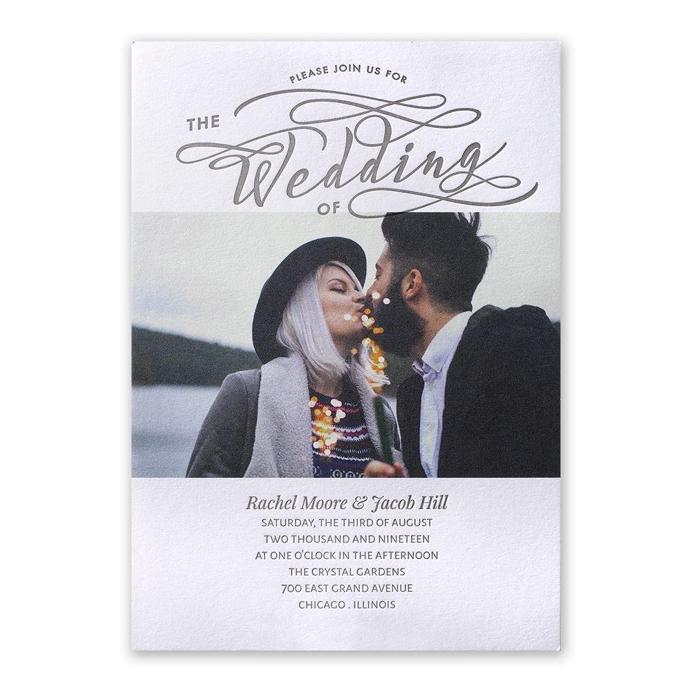 Modern Pair Letterpress Invitation  Invitations By Dawn