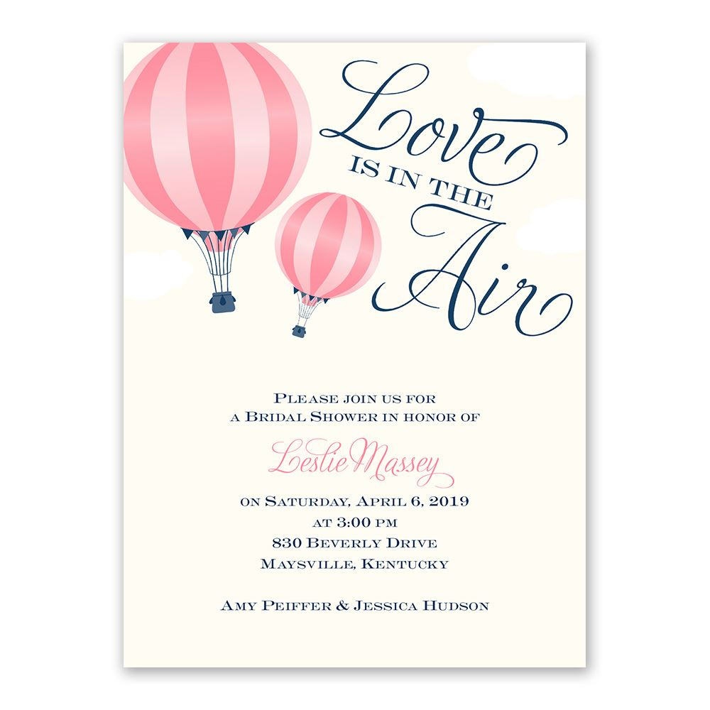 Love Is In The Air Petite Bridal Shower Invitation