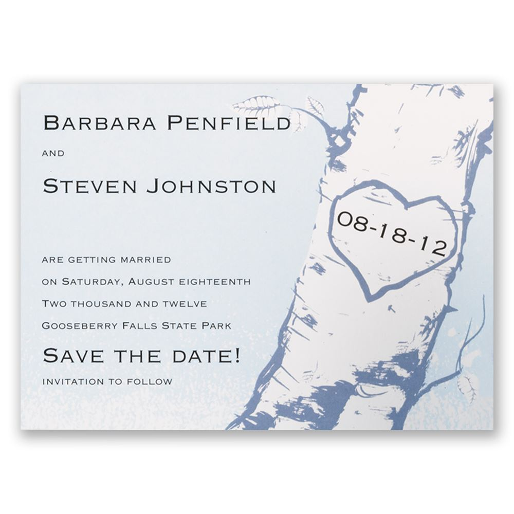 Tree Save The Date Card Invitations By Dawn