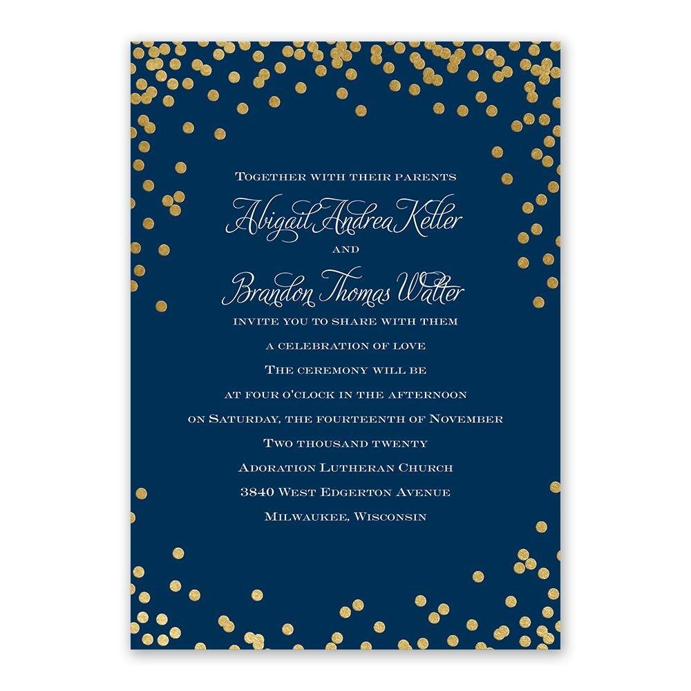 Polka Dot Glow Foil Invitation  Invitations By Dawn