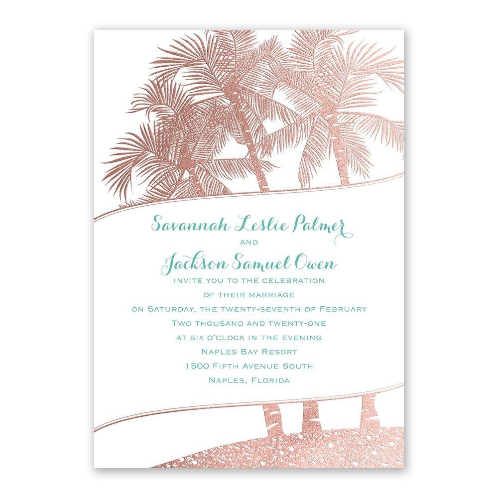 Malibu I Do Foil Invitation  Invitations By Dawn