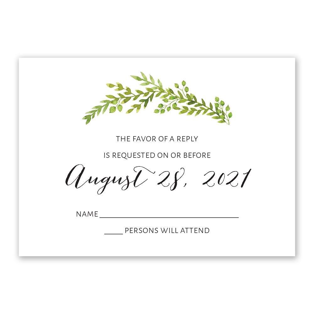 Rustic Wedding Invitations Response Cards