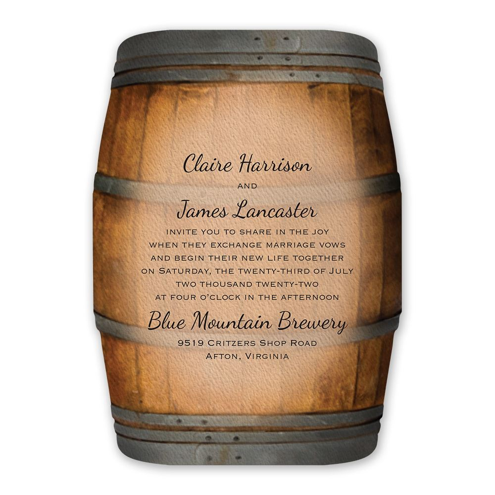 Wine Barrel Invitation  Invitations By Dawn