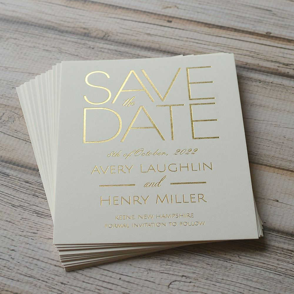 Shining Date Foil Save The Date Card Invitations By Dawn