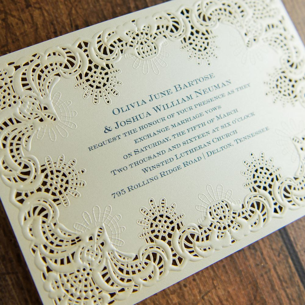 Simply Radiant Laser Cut Invitation  Invitations By Dawn