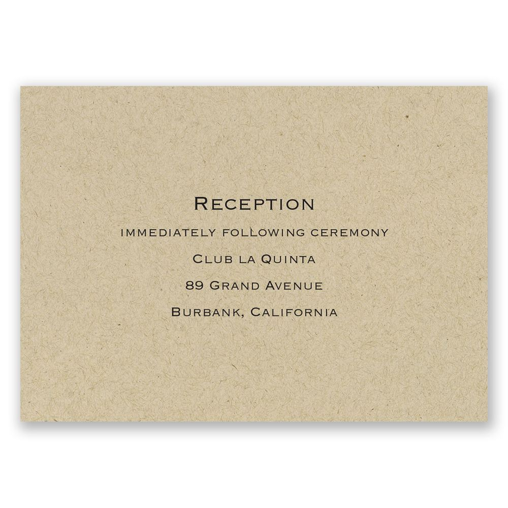 Kraft Reception Card Invitations By Dawn