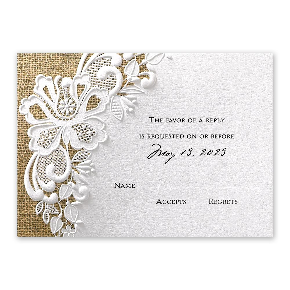 Lacy Dream Response Card Invitations By Dawn