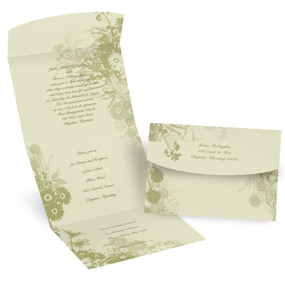 Wildflowers Seal N Send Invitation  Invitations By Dawn
