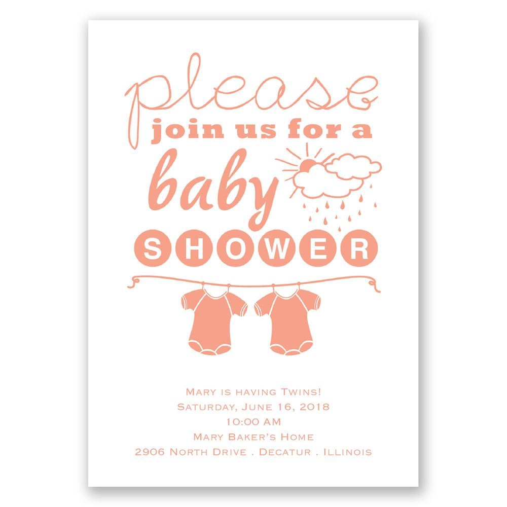 Please Join Us Twins Baby Shower Invitation  Invitations By Dawn