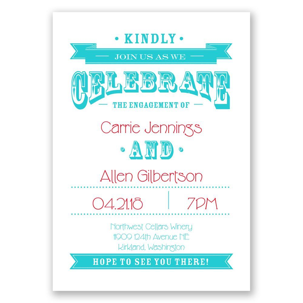 Kindly Join Us Engagement Party Invitation Invitations