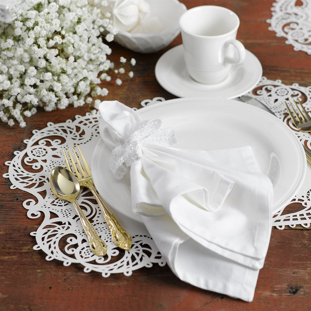 Laser Cut Placemats White Shimmer Invitations By Dawn