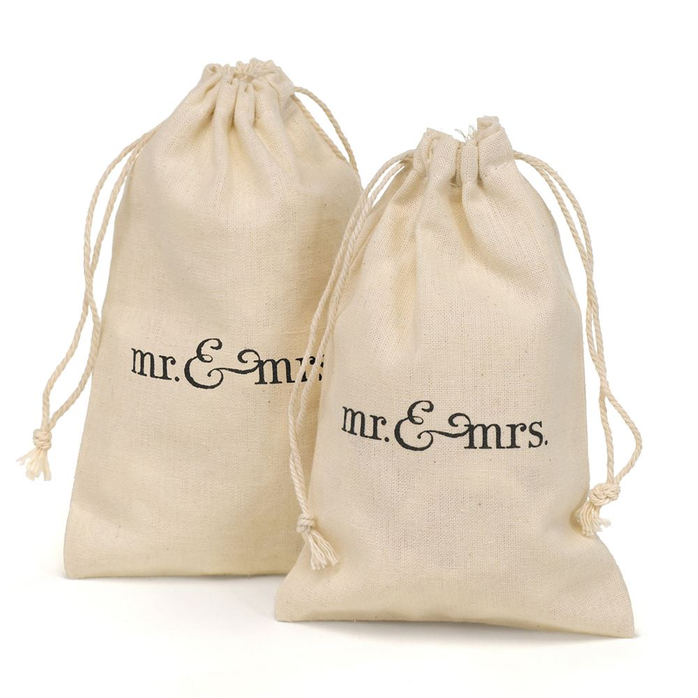 Mr Amp Mrs Cotton Favor Bags Invitations By Dawn
