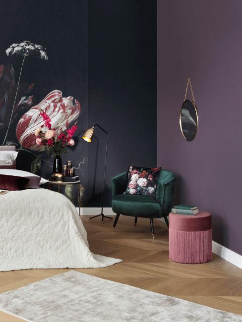 peindre une chambre en deux couleurs