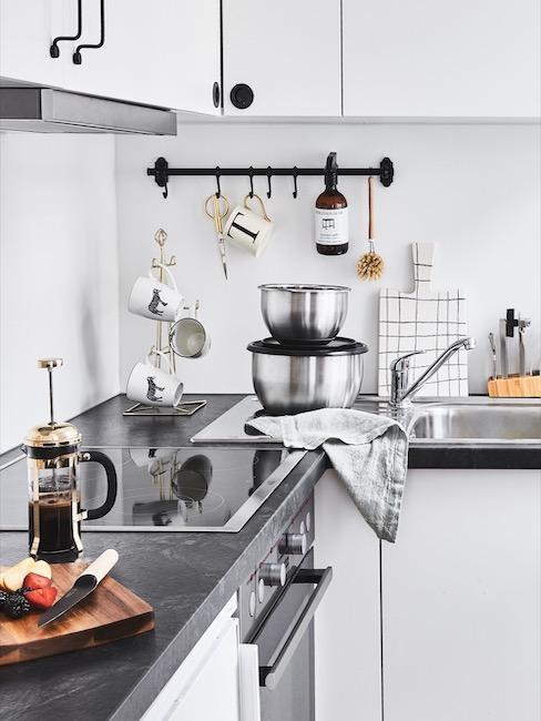 comment amenager une cuisine grise pas