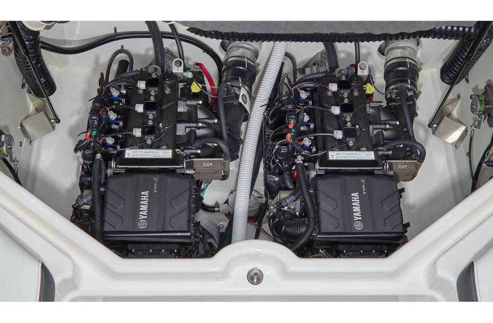medium resolution of stock image twin yamaha marine engines