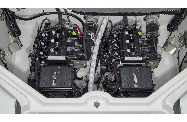 hight resolution of stock image twin yamaha marine engines