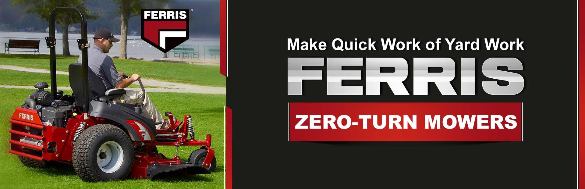 hight resolution of ferris zero turn mowers