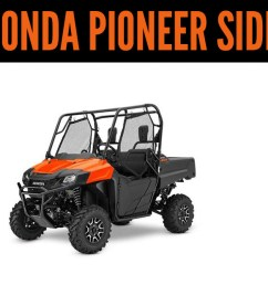 2019 honda pioneer side x sides click here to view the models  [ 1920 x 620 Pixel ]