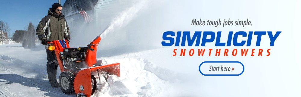 medium resolution of simplicity snowthrowers