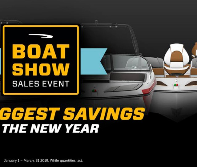 Glastron Boat Show Sales Event