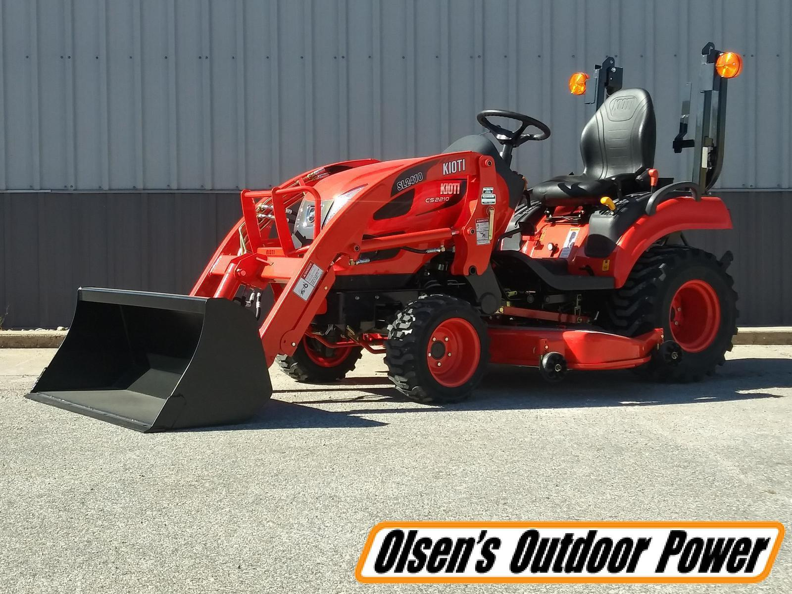 Whether you're tilling the soil to plant a springtime garden or getting ready to clear the land for your new home, a tractor is definitely a handy piece of equipment to own. Kioti Cs2210hb Subcompact Tractor W Loader Mower Deck For Sale In Atlantic Ia Olsen S Outdoor Power
