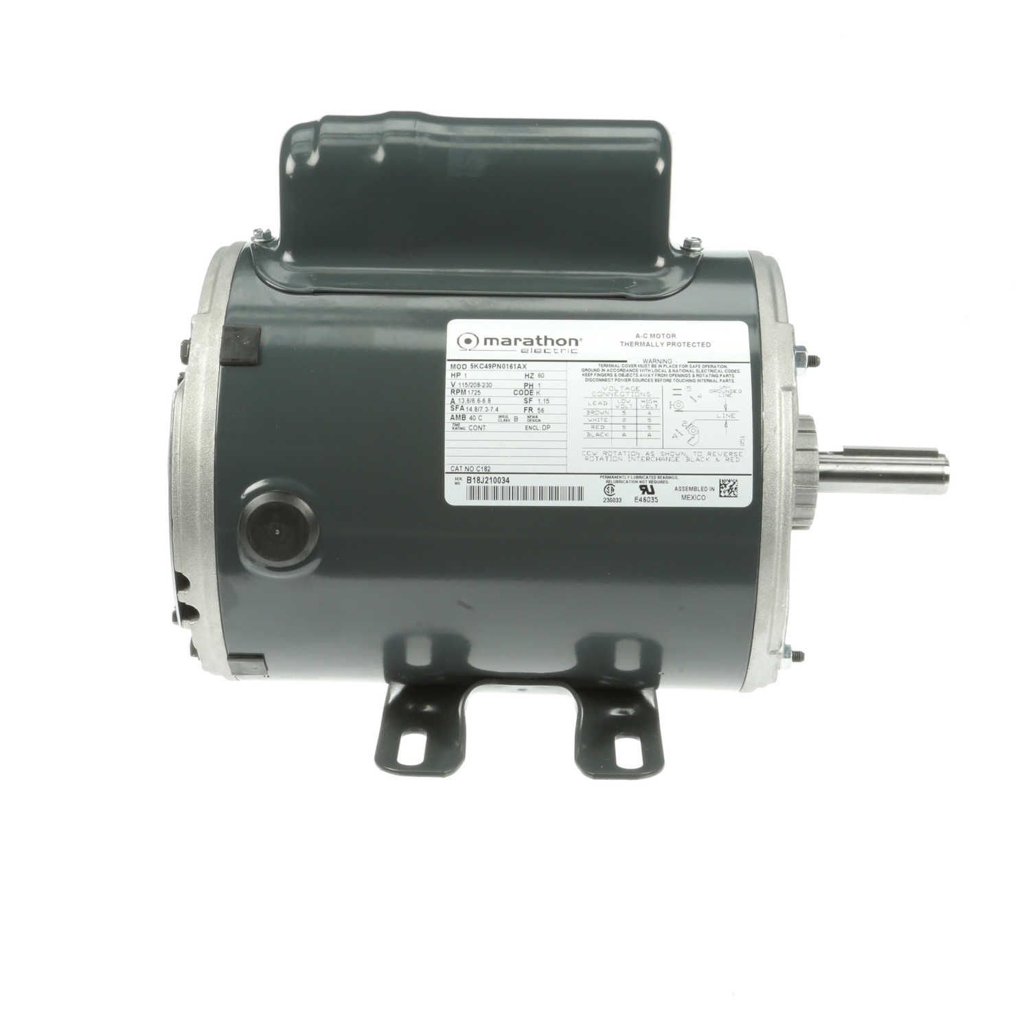 hight resolution of marathon motors 5kc49pn0161x c182 regal beloit marathon electric ac motor thermally protected 15 hp field wiring