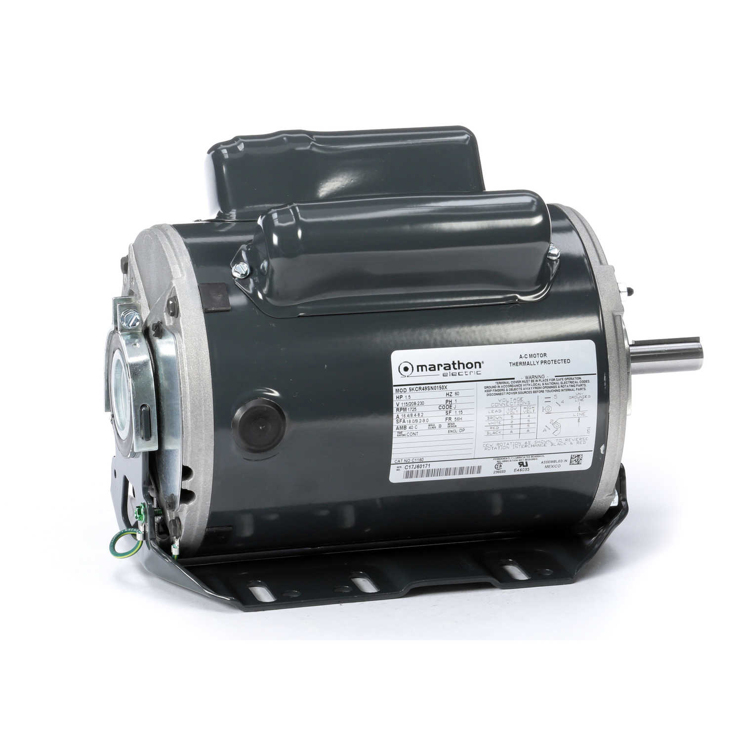 hight resolution of marathon motors 5kcr49sn0150x c1160 regal beloit marathon electric ac motor thermally protected 15 hp field wiring