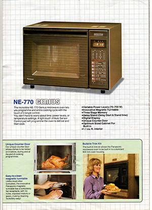 6 vintage microwave ads show the