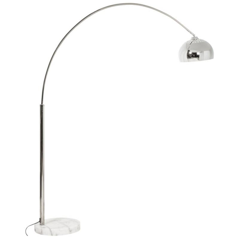 Lampe sur pied design MOEROL XL CHROME en acier chrom grande et chrom