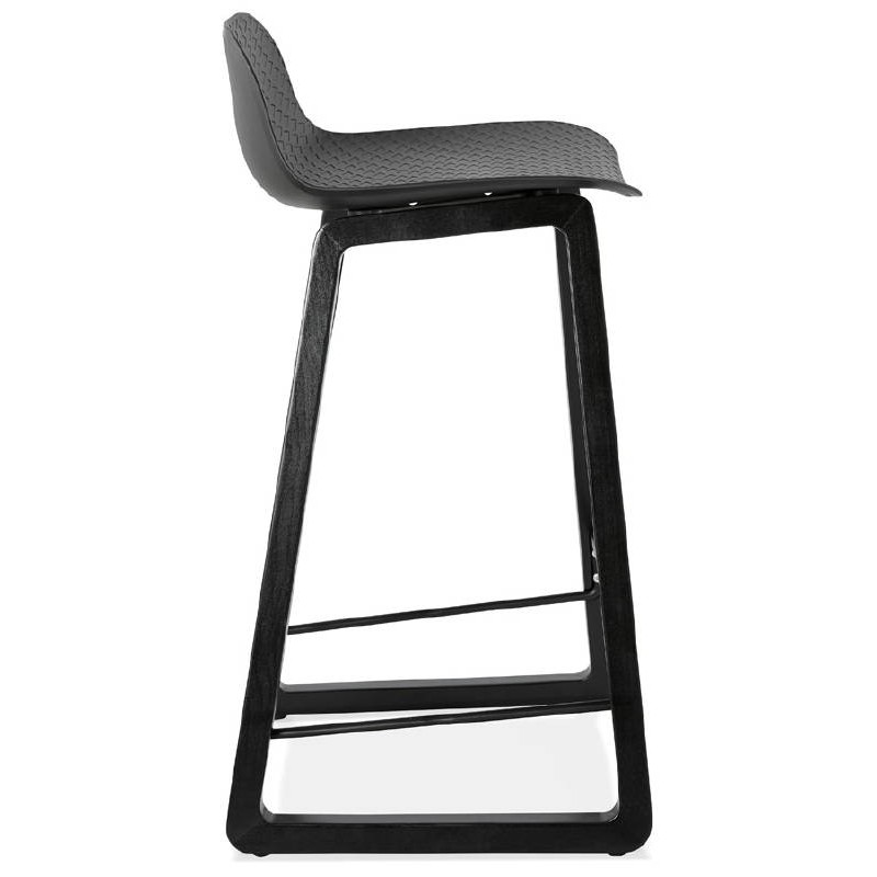 tabouret de bar chaise de bar mi hauteur design obeline mini noir tabourets de bar design