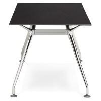 Glas Schreibtisch modern Tisch (80 x 160 cm) AMELIE (schwarz)
