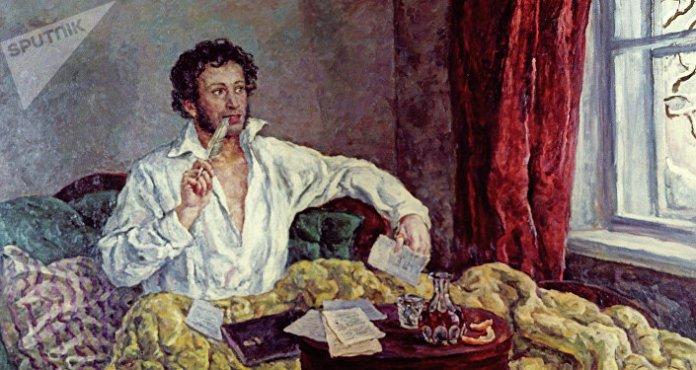 El poeta ruso Alexandr Pushkin (1799-1837)