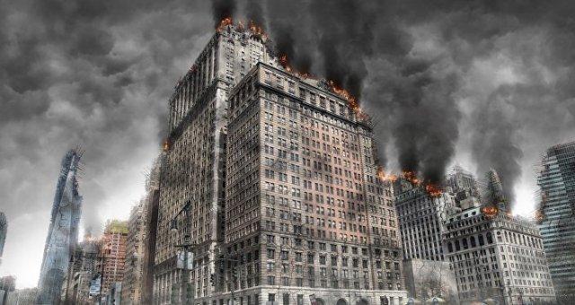 Una ciudad destruida (imagen referencial)