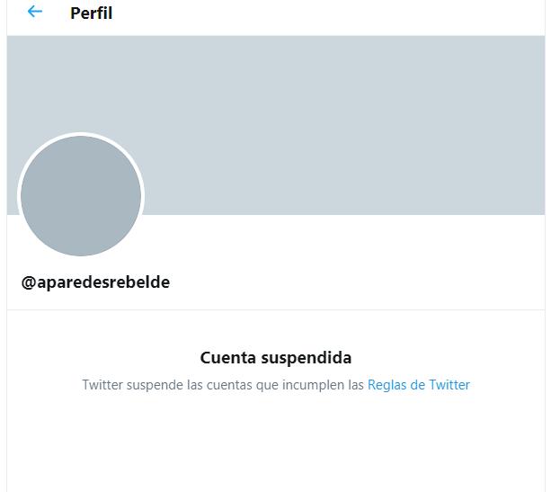Cuenta de Twitter de la periodista cubana Angélica Paredes