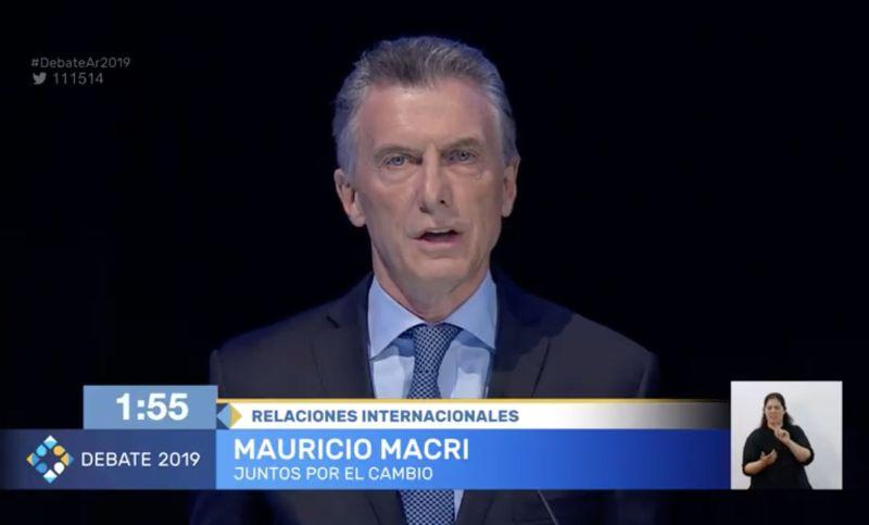 Resultado de imagen para Mauricio Macri  Debate 2019