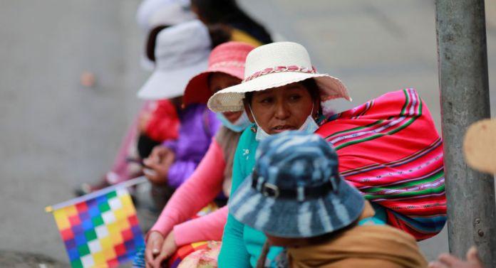 Los indígenas protestan en La Paz, Bolivia