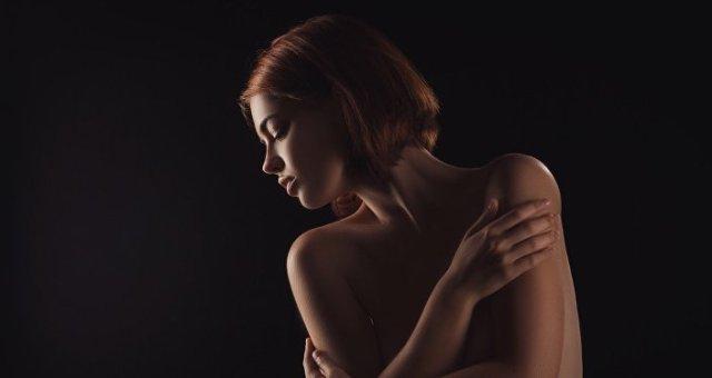 Una mujer triste