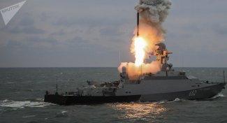 Lanzamiento del misil Kalibr (archivo)