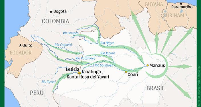 Las rutas del narcotráfico en la Amazonía