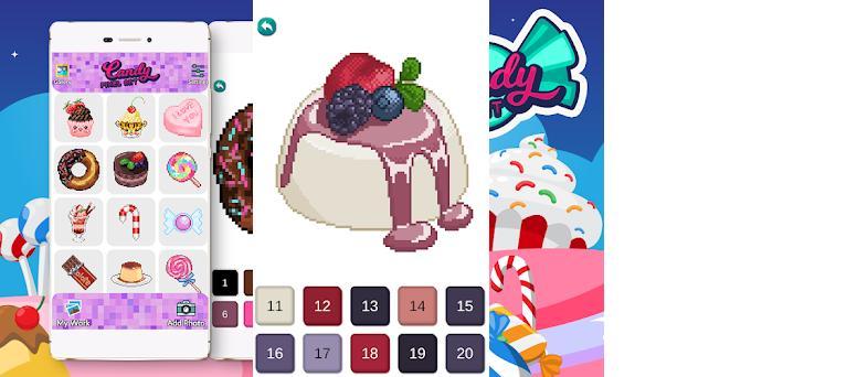 Candy Pixel Art - Candy Sandbox para colorear Capturas de pantalla