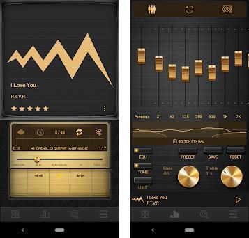 Marshall - Dark Retro Gold/Metal Poweramp V3 Skin 1 0 apk download