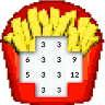 Color by Number Food Pixel Art game apk icon