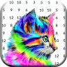 Tiger & Wolf Color By Number Animals Pixel Art game apk icon