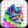 download Tiger & Wolf Color By Number Animals Pixel Art apk