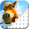 Horse Pixel Art: Pony Color By Number Game game apk icon